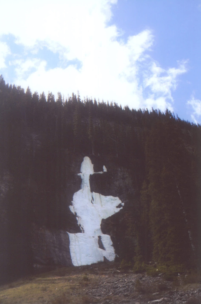 Cowboy in the snow located near Lake Louise