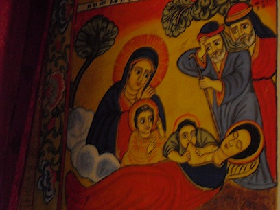 church wall painting